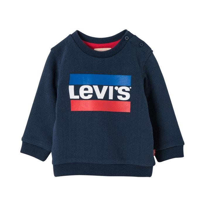 beaea175d Cotton logo print buttoned sweatshirt, 6 months-2 years , navy blue, LEVI'S  KIDS