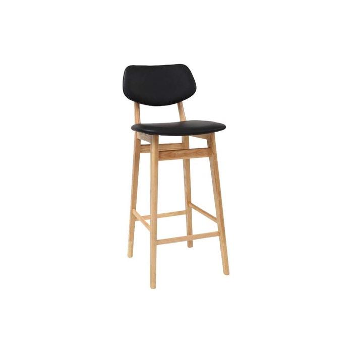 tabouret chaise de bar design bois nordeco noir miliboo la redoute. Black Bedroom Furniture Sets. Home Design Ideas