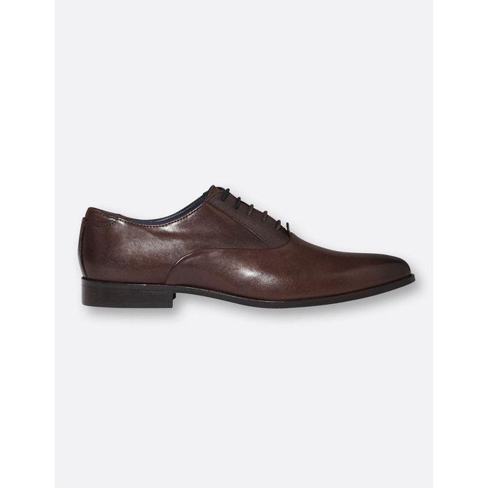 Chaussures de costume en cuir chocolat Brice  7d7816c04b5