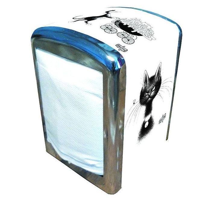 distributeur m tal serviettes papier les chats par dubout couleur unique editions atlas la redoute. Black Bedroom Furniture Sets. Home Design Ideas