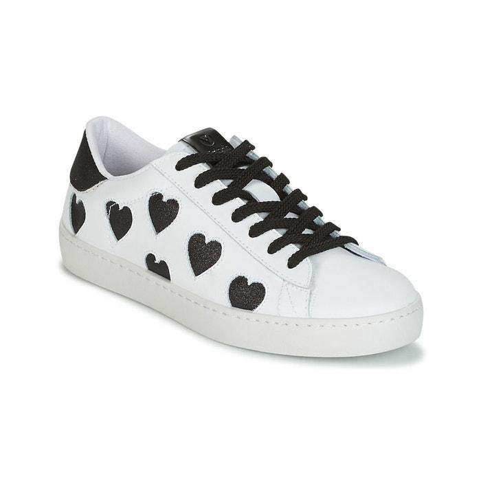 Chaussures deportivo laser corazones negro w e18 blanc Victoria
