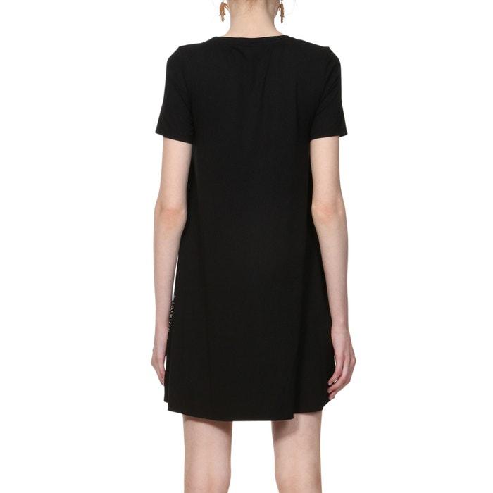 cdcb08fa0e119d Soepele korte jurk met grafische print zwart Desigual