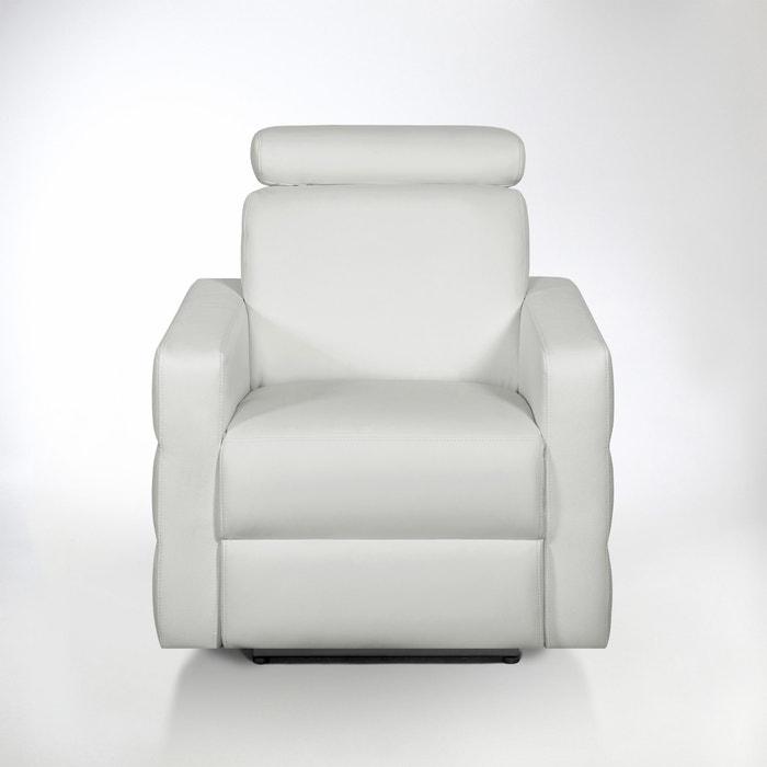 afbeelding Elektrische relax zetel in leer, Hyriel La Redoute Interieurs