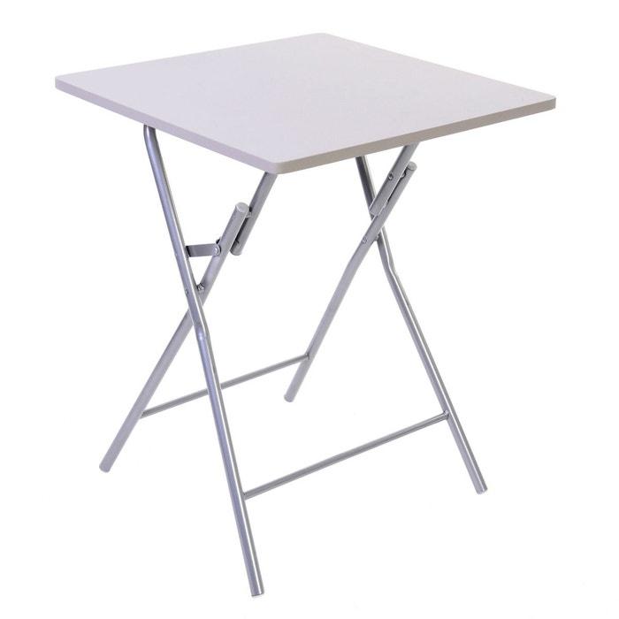 table pliante basic - taupe taupe atmosphera | la redoute