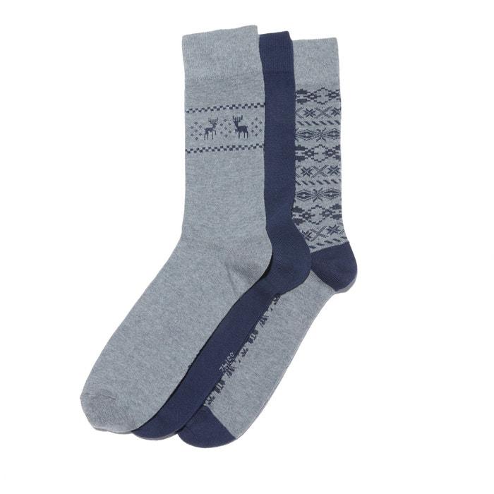 Lote de 3 pares de calcetines fantasía  La Redoute Collections image 0