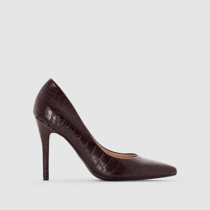 """Imagen de Zapatos de tacón estilo """"cocodrilo"""" atelier R"""