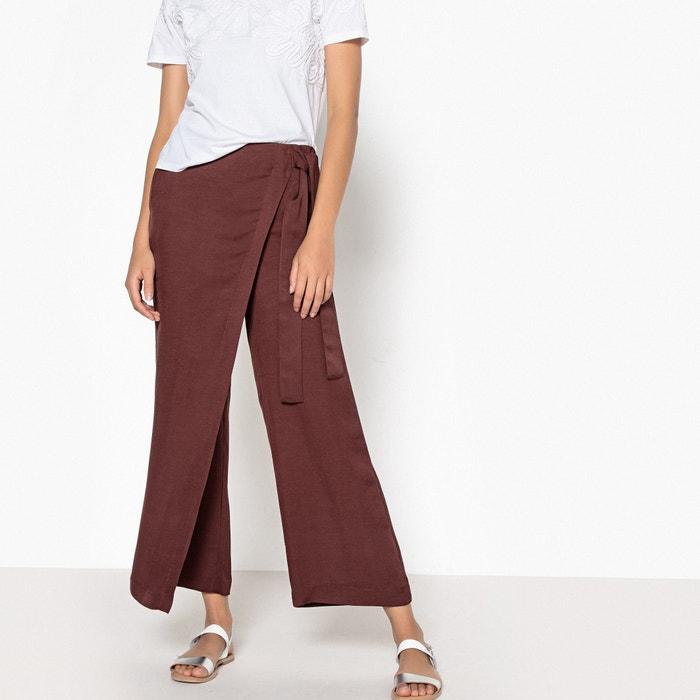 Pantaloni larghi con teli 7/8 lino viscosa  La Redoute Collections image 0