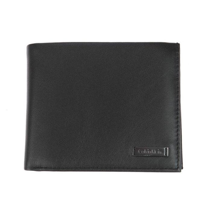 Calvin Klein Portefeuille italien Dex - 4 cartes Noir Pi3TH0U