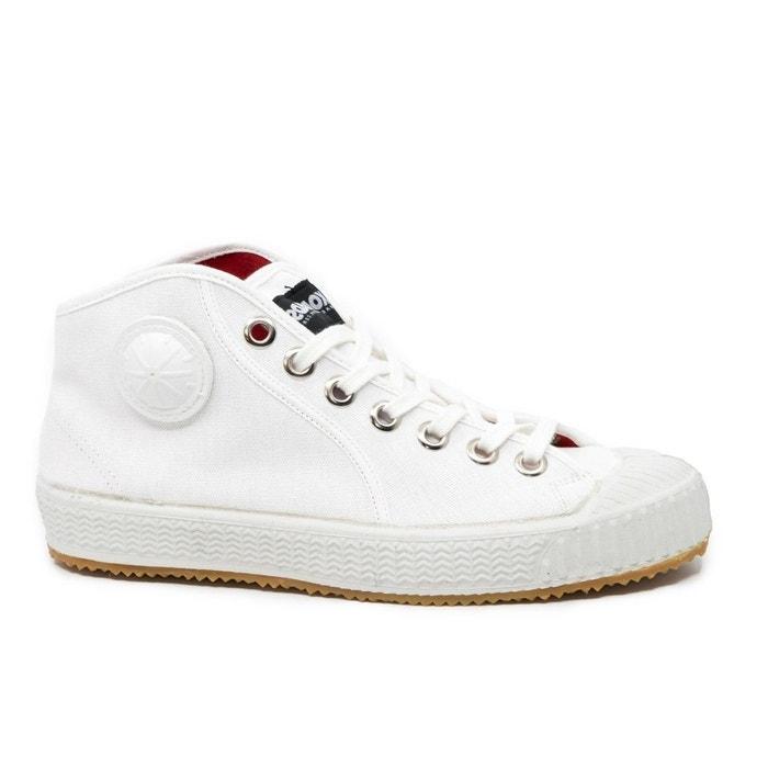 4848a629207e7 Baskets montantes toile blanche partizan white blanc Komrads | La Redoute