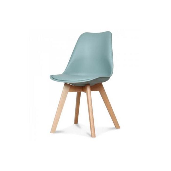 Chaise Design Style Scandinave Vert Gris SWEDEN