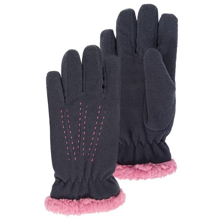 gants enfant gants polaire doubl s fausse fourrure isotoner la redoute. Black Bedroom Furniture Sets. Home Design Ideas