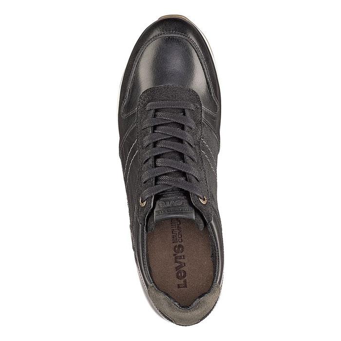 Baskets cuir bristol noir Levis
