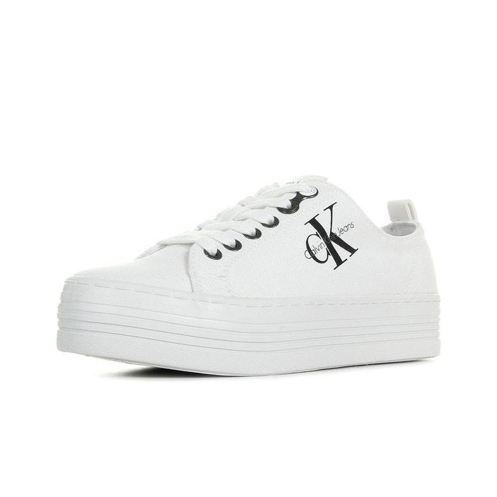 Baskets zolah canvas blanc blanc Calvin Klein   La Redoute b6e0351f7b4c