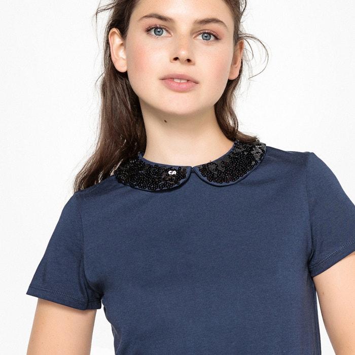 T-shirt con colletto maniche corte  MADEMOISELLE R image 0