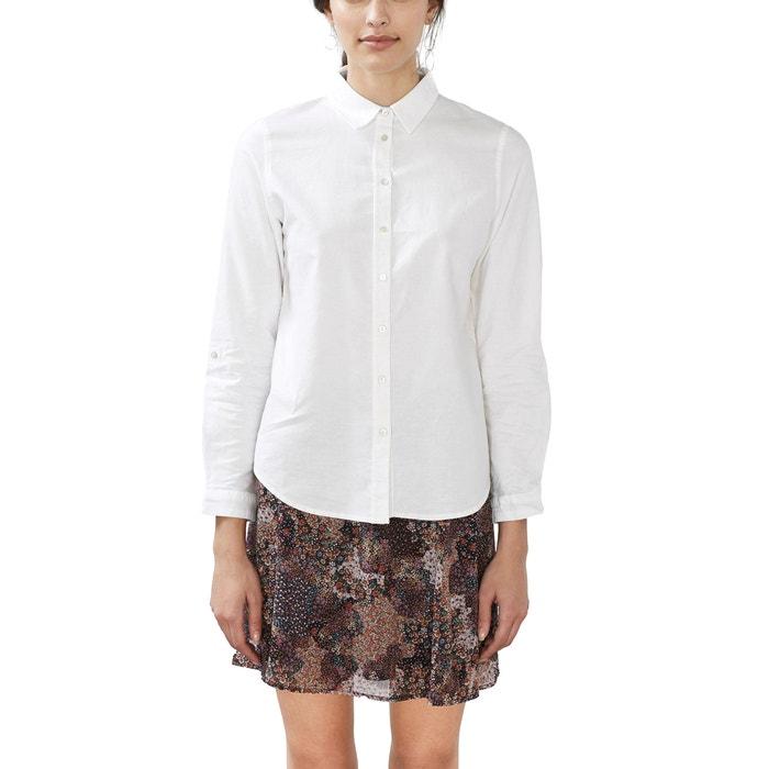 Imagen de Blusa recta de algodón ESPRIT