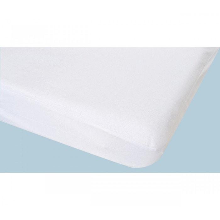 Prot ge matelas non feu imperm able molleton blanc poyet motte mobilier la redoute - La redoute protege matelas ...