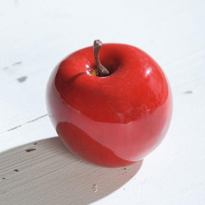 pomme artificielle rouge brillante d7 5 cm superbe en. Black Bedroom Furniture Sets. Home Design Ideas