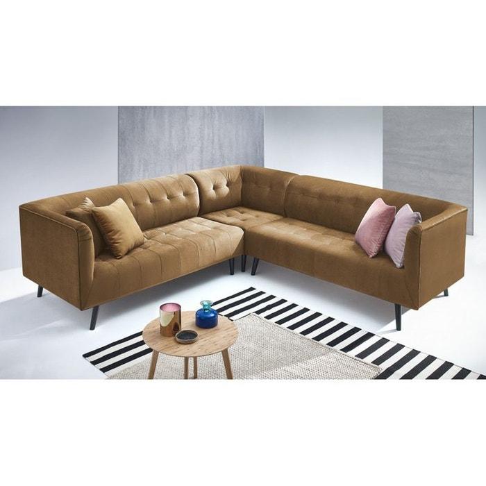 canape d 39 angle panoramique paris kronos 1 jaune moutarde jaune bobochic la redoute. Black Bedroom Furniture Sets. Home Design Ideas