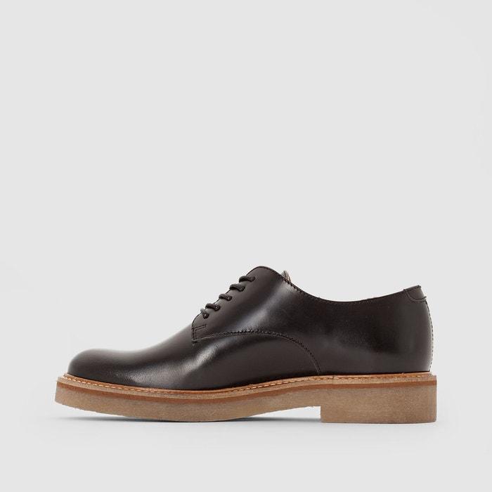 Derbies en cuir oxford noir Kickers