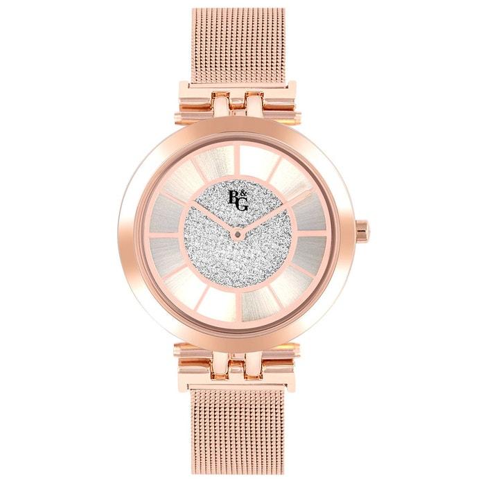 Magasin De Sortie Pour Amazon Pas Cher En Ligne Montre en métal rose rose B&G | La Redoute Fourniture En Ligne h45wRjzvKo
