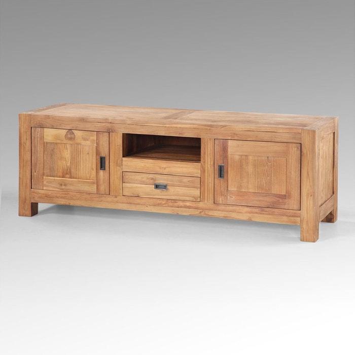 meuble tv padang en teck naturel kha home design la redoute. Black Bedroom Furniture Sets. Home Design Ideas