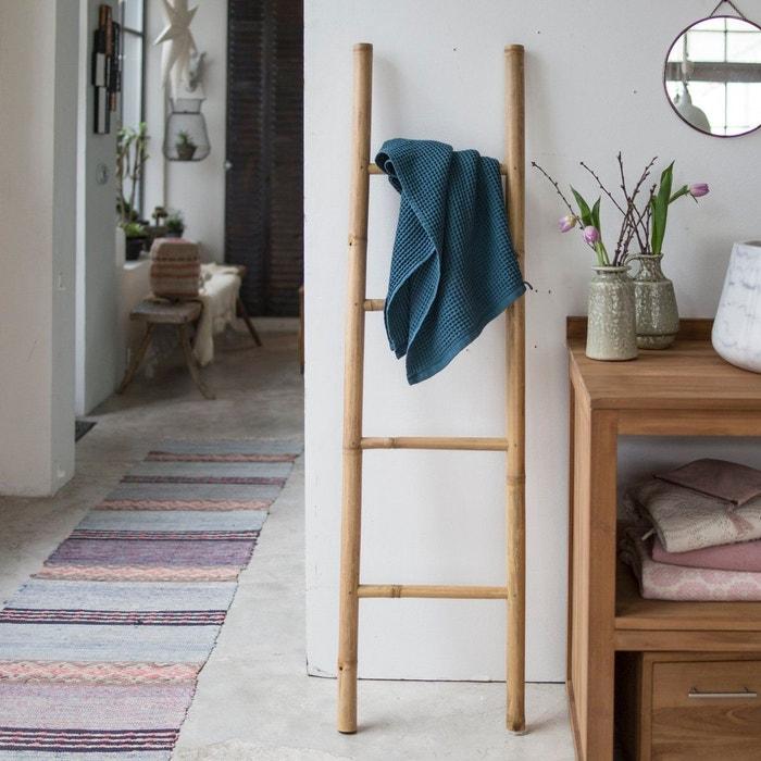 echelle porte serviette de salle de bain en bambou naturel. Black Bedroom Furniture Sets. Home Design Ideas