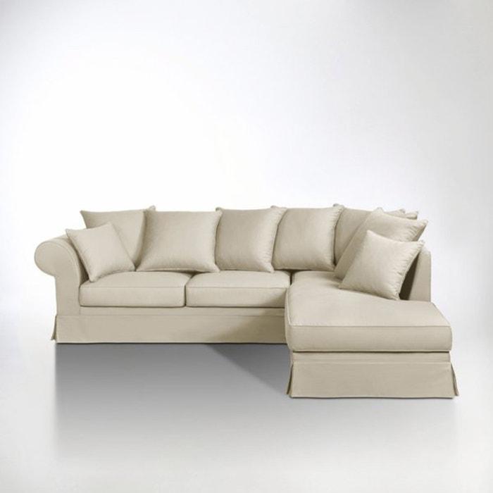 canap d 39 angle coton demi natt adelia la redoute. Black Bedroom Furniture Sets. Home Design Ideas
