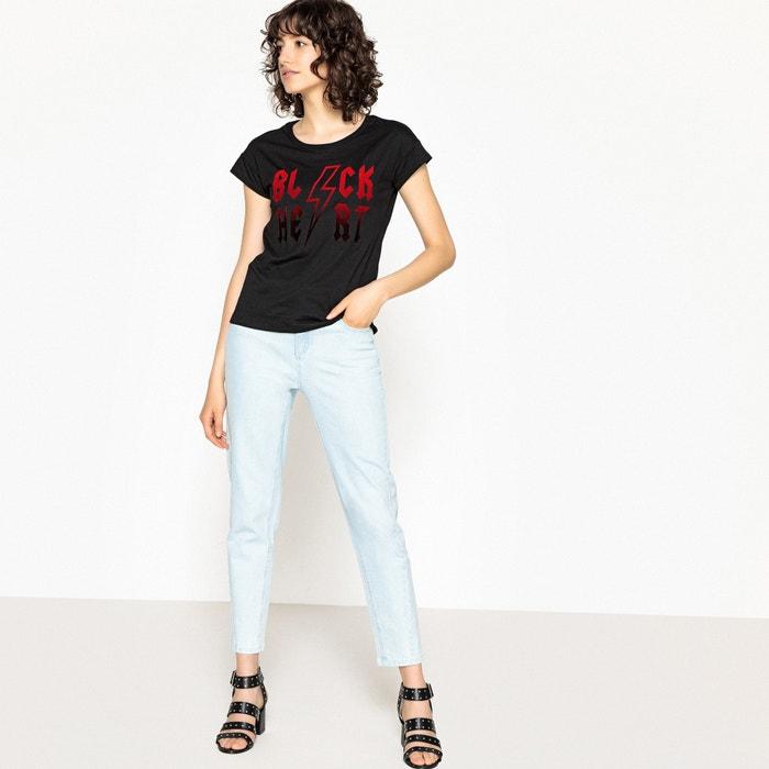 redondo motivo Redoute corta y La flocado Collections Camiseta con manga cuello zd0Xw