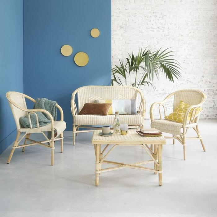 ensemble de salon en rotin naturel rotin bois dessus bois dessous la redoute. Black Bedroom Furniture Sets. Home Design Ideas
