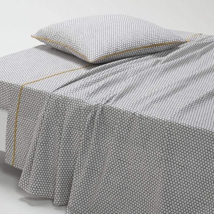 drap en percale duo la redoute interieurs la redoute. Black Bedroom Furniture Sets. Home Design Ideas