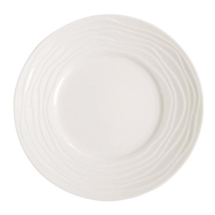 assiette dessert onde blanc medard de noblat la redoute. Black Bedroom Furniture Sets. Home Design Ideas