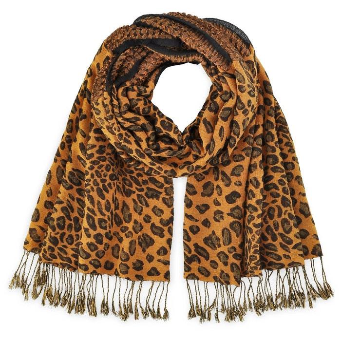 dbecc11eec24 Echarpe léopard orangé orange Allee Du Foulard   La Redoute