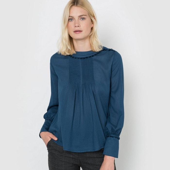 4db3fc1d584dd15 Блузка в романтическом стиле темный сине-зеленый La Redoute ...