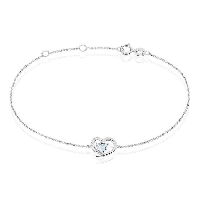Bracelet eliana or blanc topaze diamants blanc Histoire D'or   La Redoute Acheter En Ligne Nouvelle jzfdF3Wox6