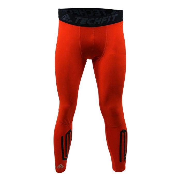 Adidas techfit tough long tights collant de sport homme climalite orange  Adidas Performance  c2dc52a356e