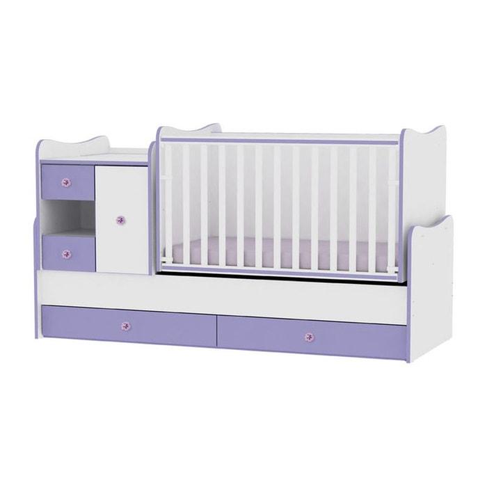 lit b b volutif combin transformable mini max violet violet lorelli la redoute. Black Bedroom Furniture Sets. Home Design Ideas