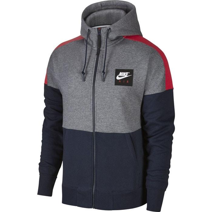 veste nike sportswear hoodie air gris homme gris nike la. Black Bedroom Furniture Sets. Home Design Ideas