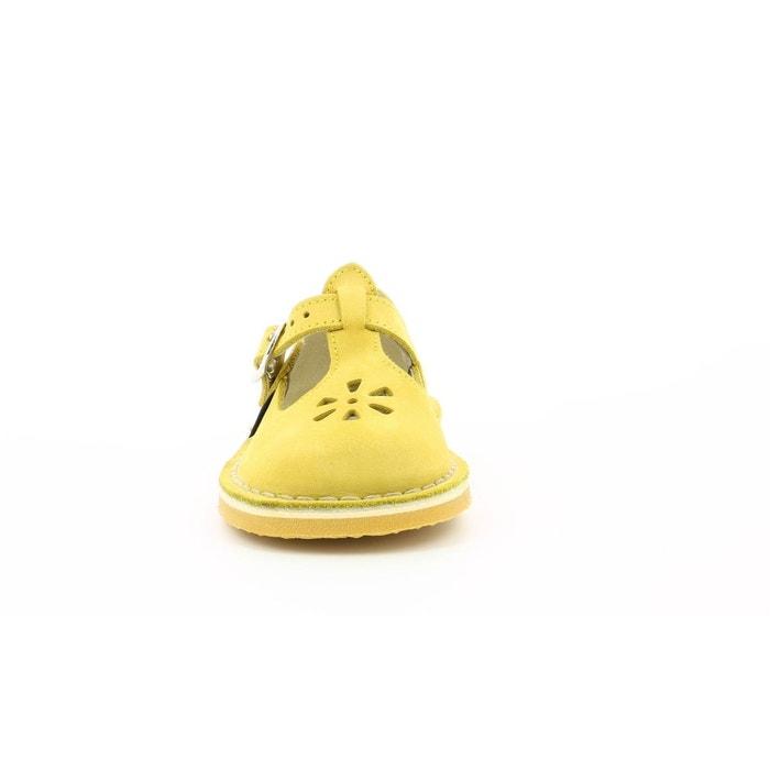 ce9e1ae2bba31 Salomé nubuck enfant dingo jaune Aster