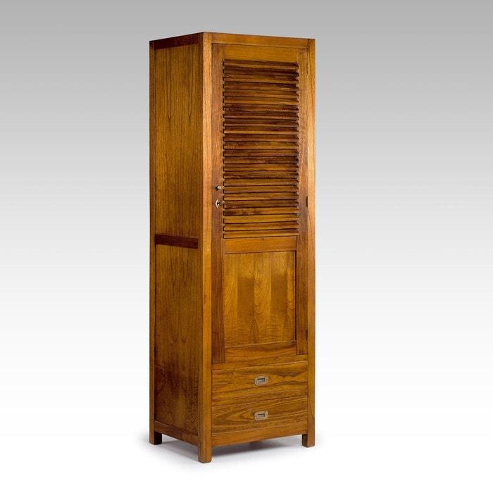 armoire marco polo arya simple 1 porte 2 tiroirs kha home. Black Bedroom Furniture Sets. Home Design Ideas