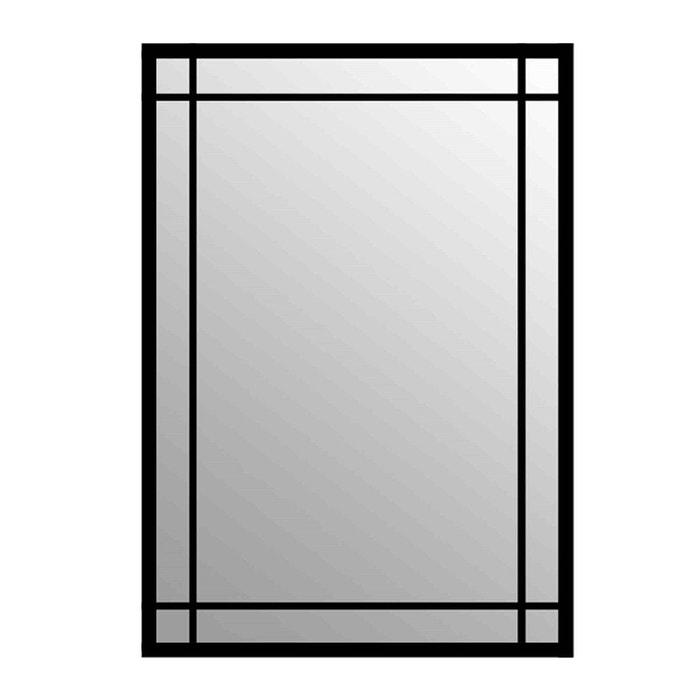 Miroir rectangulaire en m tal gaspard noir emde premium la redoute for Miroir rectangulaire noir