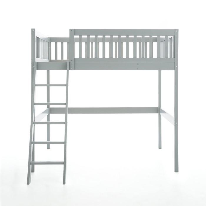 lit mezzanine couchage 140x190 cm diablotin gris clair am. Black Bedroom Furniture Sets. Home Design Ideas