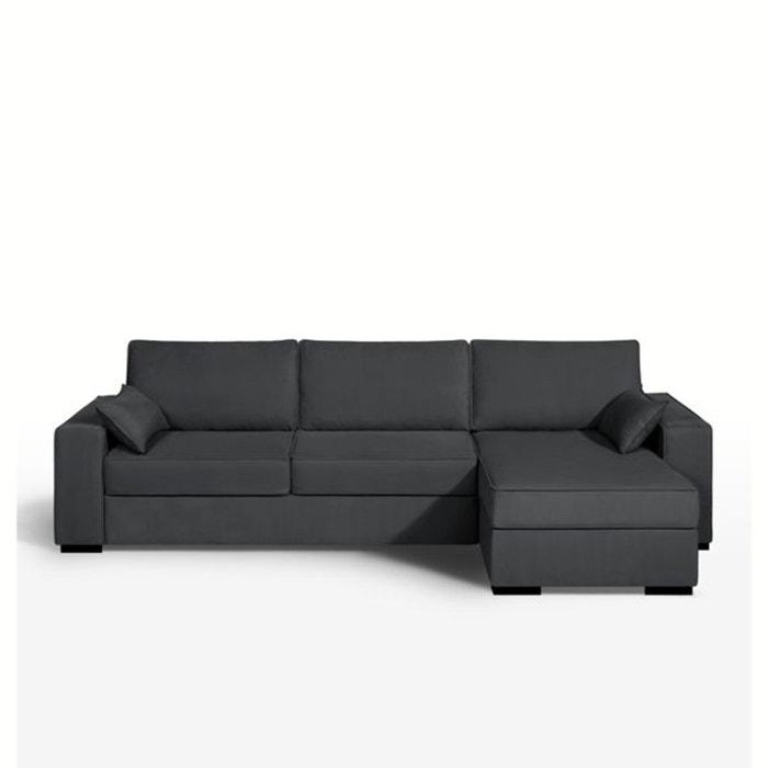 afbeelding Hoekcanapé/bed, express slaapzone, half gevlochten katoen, Cécilia La Redoute Interieurs