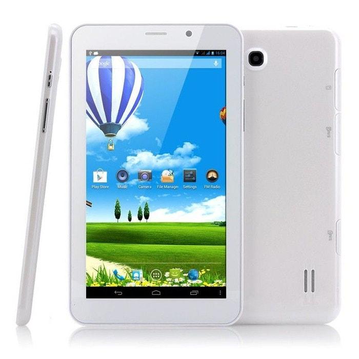 tablette tactile 3g 7 pouces android 4 4 dual core sim gps. Black Bedroom Furniture Sets. Home Design Ideas
