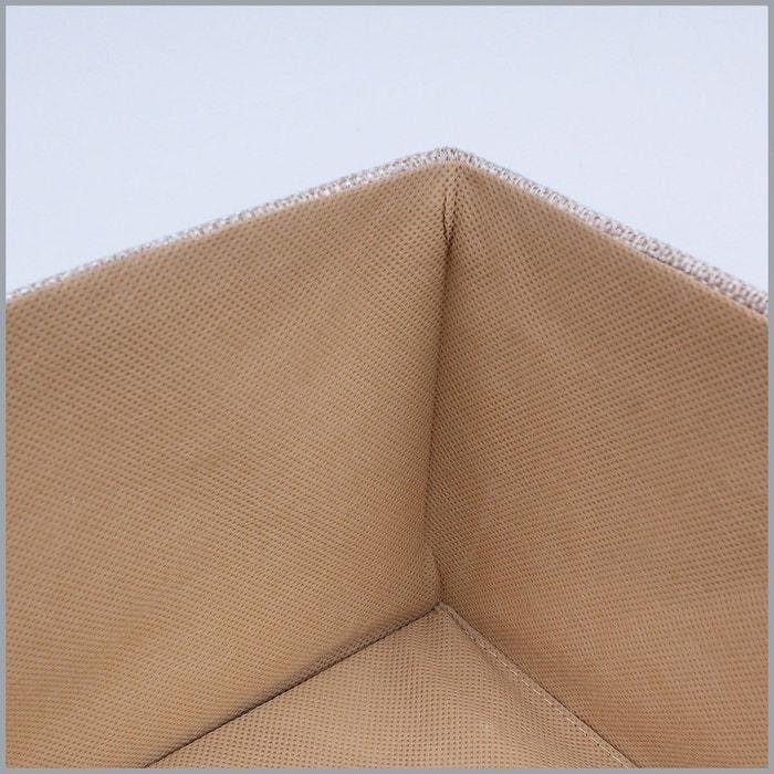 Boîte de rangement polyester grand modèle beige lin Casame   La Redoute 17fbc786c6d8