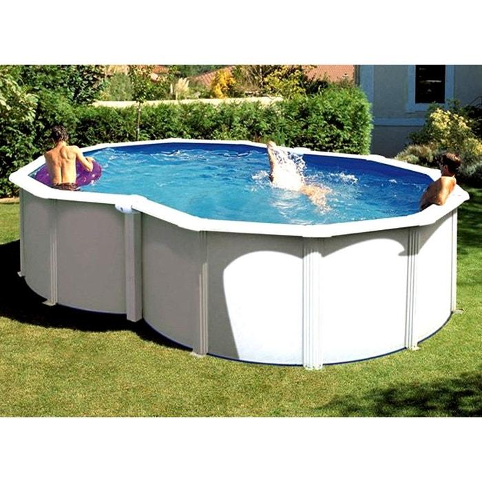 piscine acier blanc varadero en huit 5 00 x 3 40 x 1 20 m. Black Bedroom Furniture Sets. Home Design Ideas