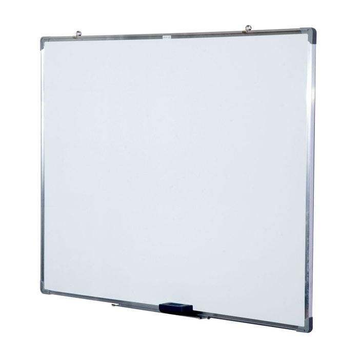 tableau blanc aimanté 120x90 cm blanc homcom   la redoute