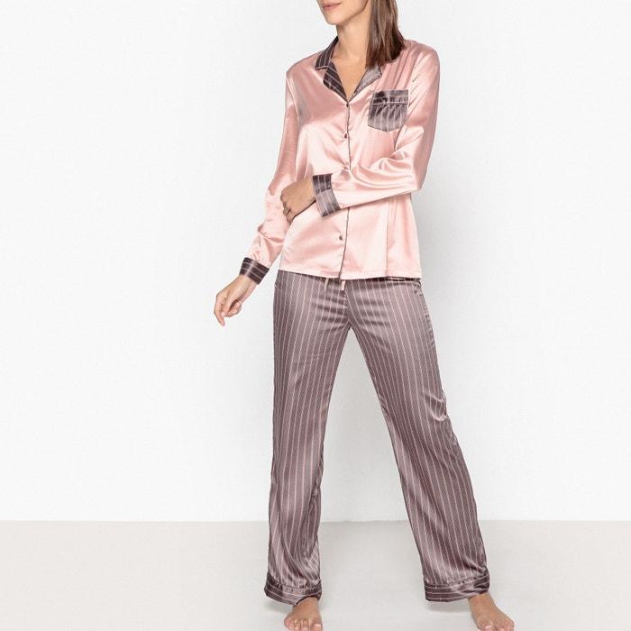 Пижама с рубашкой из сатина  La Redoute Collections image 0