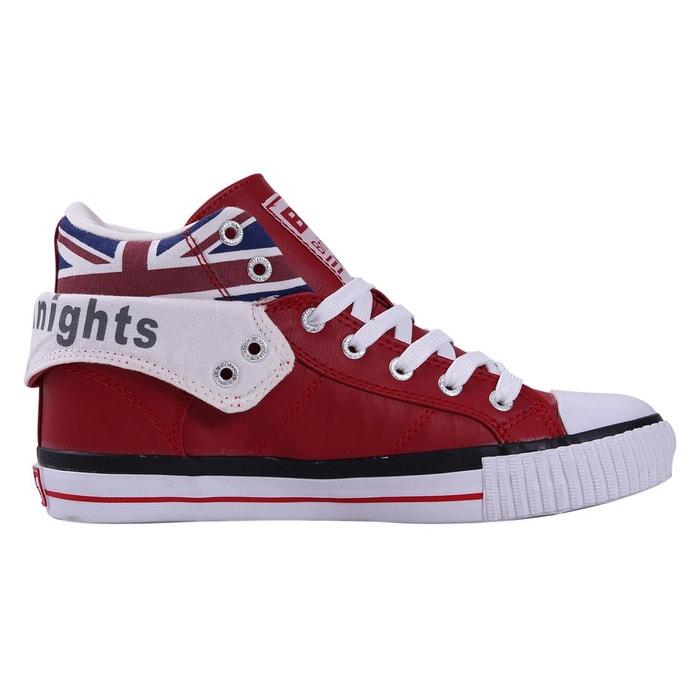 Roco femmes baskets montante rouge/union jack British Knights