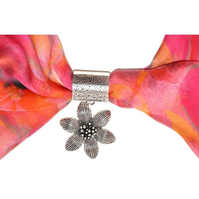 Bijou de foulard FLEURS en métal