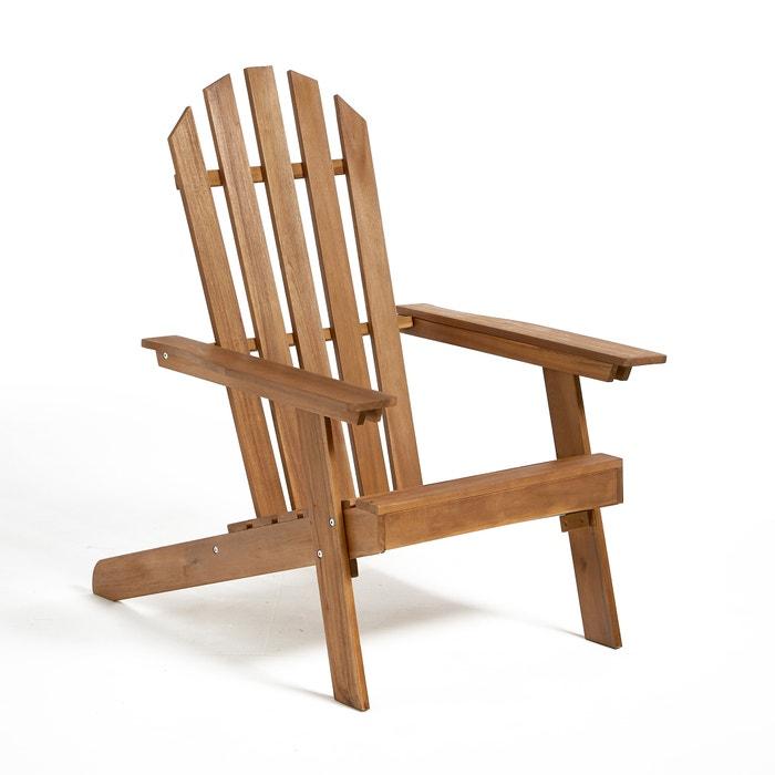 fauteuil de jardin style adirondack 3 positions gamme zeda acacia la redoute interieurs la. Black Bedroom Furniture Sets. Home Design Ideas